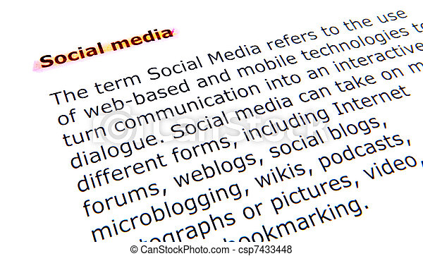 social media - csp7433448
