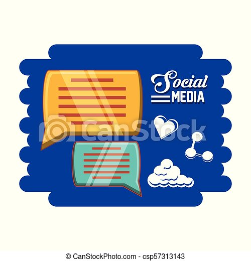 social media set icons - csp57313143