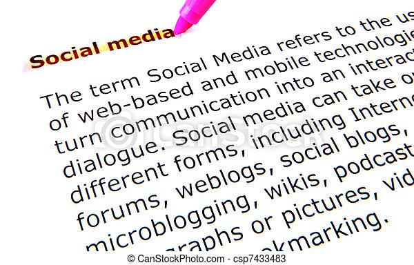 social media - csp7433483