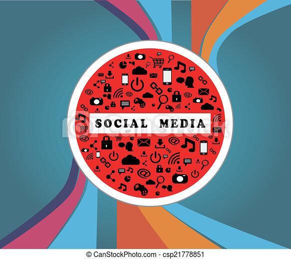 SOCIAL MEDIA TRAFFIC SIGN - csp21778851
