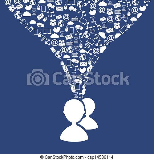 social media - csp14536114