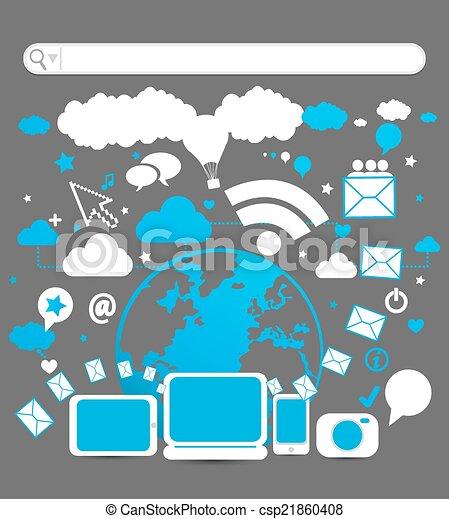 social media - csp21860408