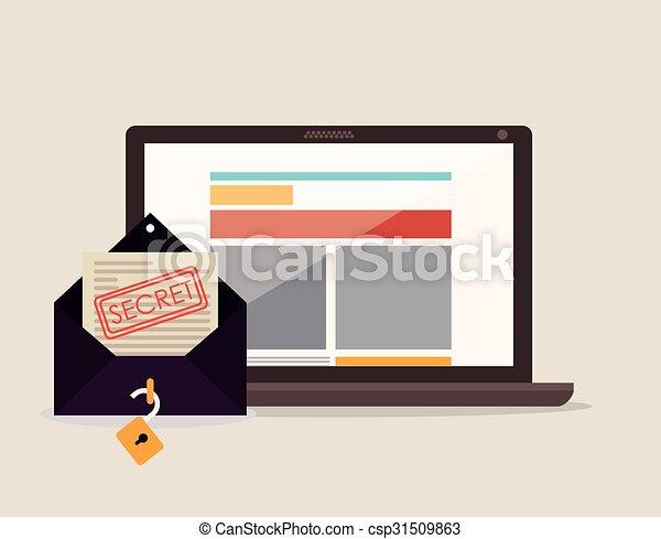 Line Art Media Design : Social media vector illustration design clip