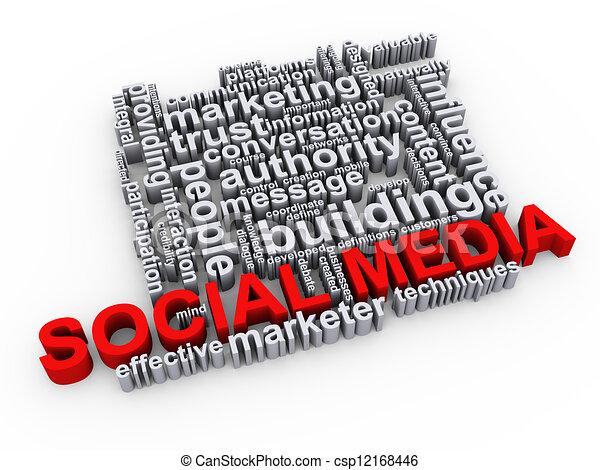 Social media wordcloud - csp12168446