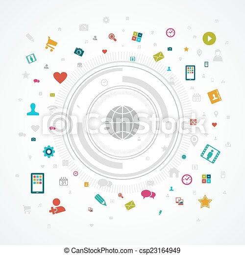 Social media world concept - csp23164949
