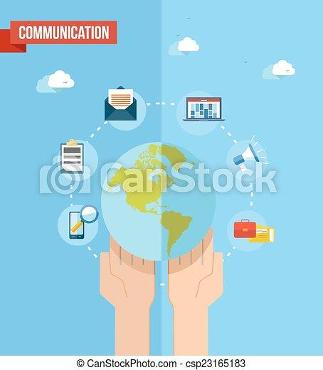 Social media world concept flat illustration - csp23165183