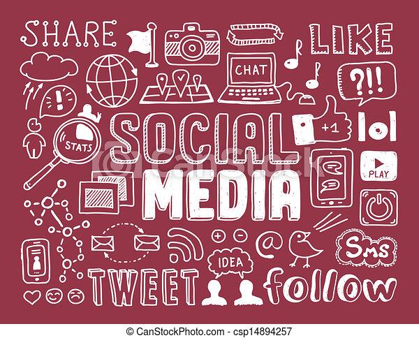 Los elementos de las redes sociales - csp14894257