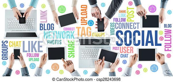 Social network community - csp28243698