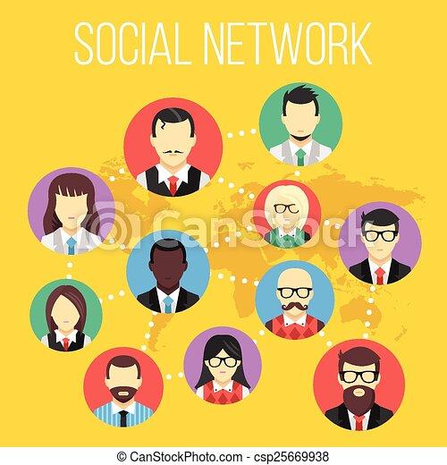 Social network concept - csp25669938