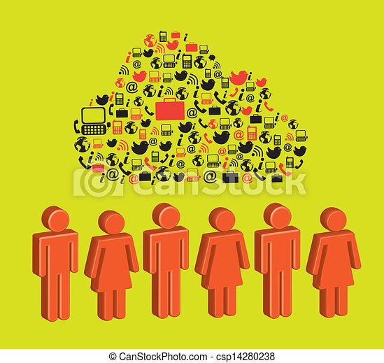 social network - csp14280238