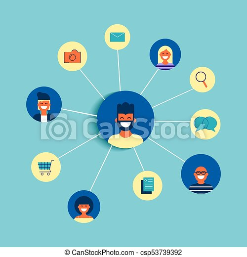 Social Network Friend Group Online Concept Design Csp53739392