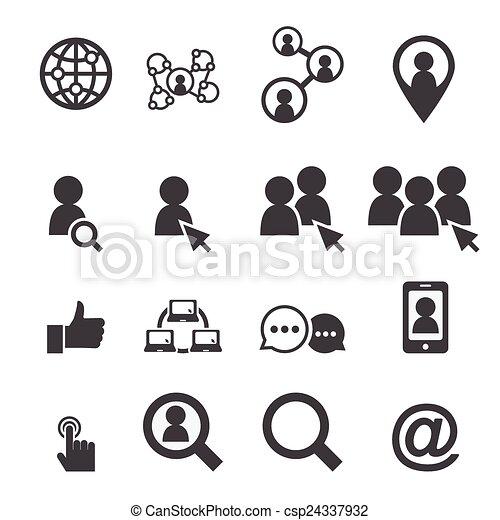 social network icon - csp24337932