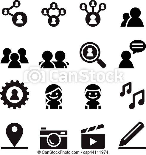Social network , Social media icon set - csp44111974