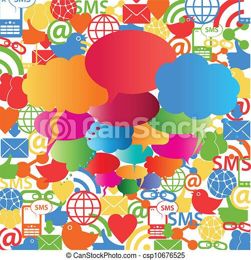 Social network speech bubbles - csp10676525