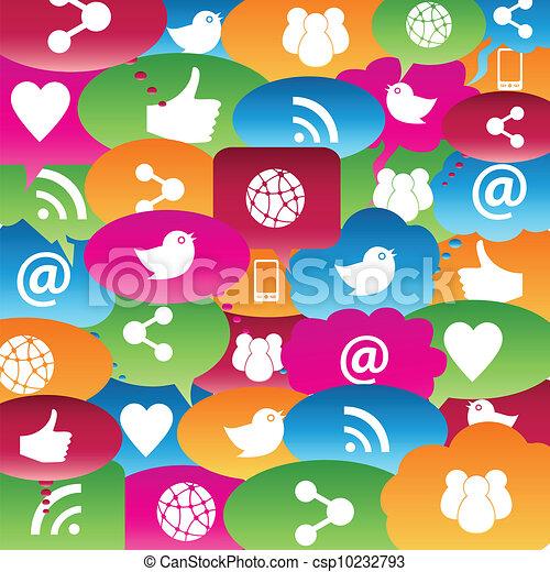 Social network talk bubbles - csp10232793
