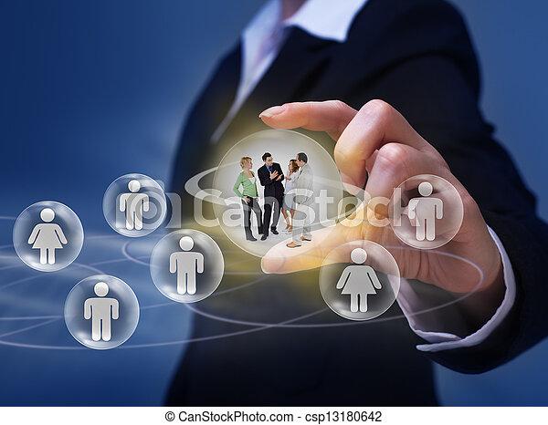 Social networking concept - csp13180642