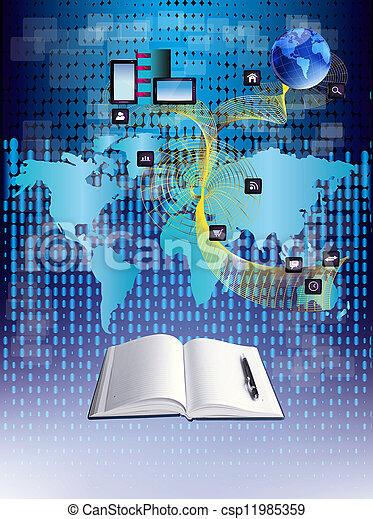 Social network.The Internet concept - csp11985359