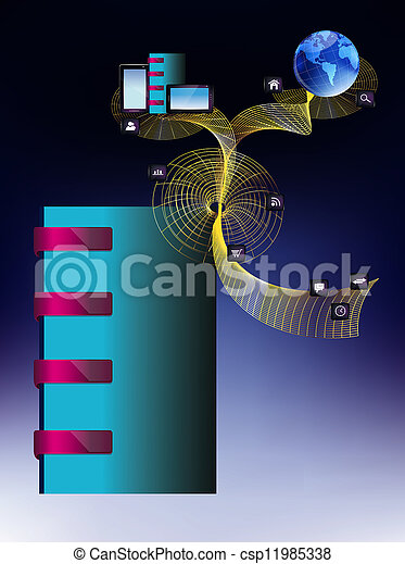 Social network.The Internet concept - csp11985338