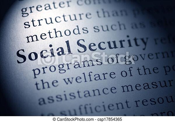 social security - csp17854365