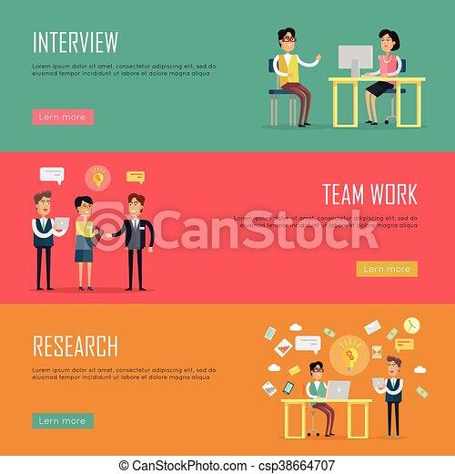 social teamwork concept website design template social people
