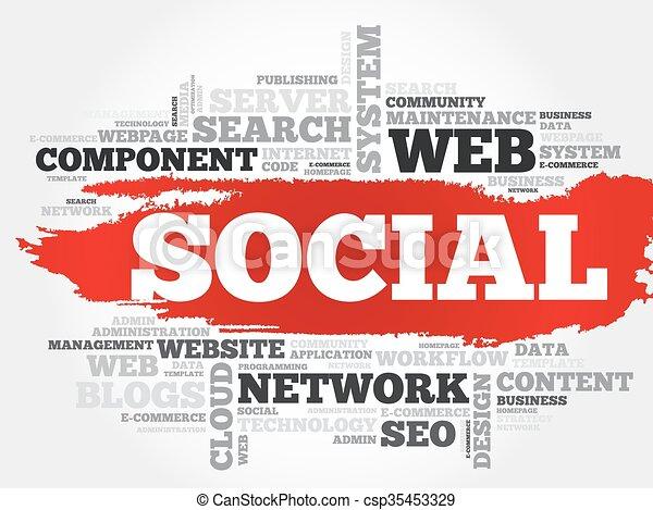 Social word cloud - csp35453329