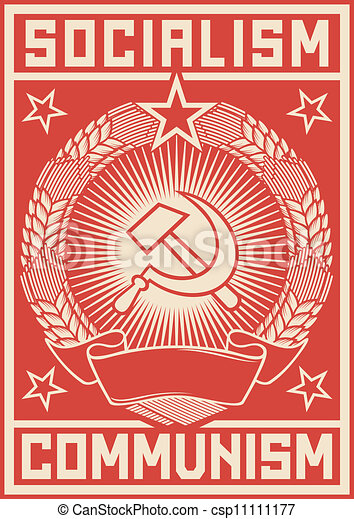 socialism - communism poster - csp11111177
