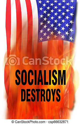 Socialism on Fire - csp66632871