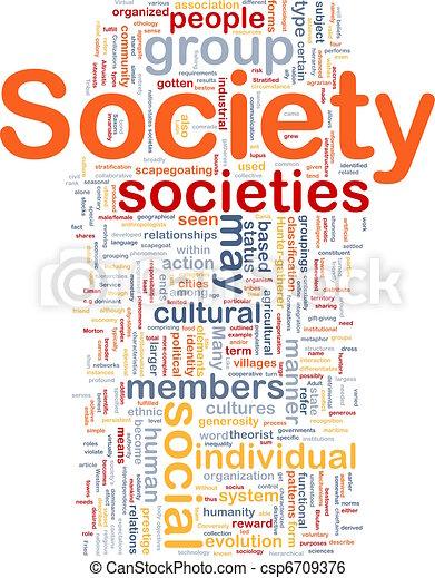 Concepto social de fondo - csp6709376