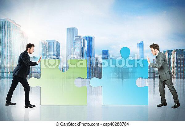 Socio de negocios - csp40288784