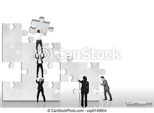 Los socios trabajan juntos - csp9149604