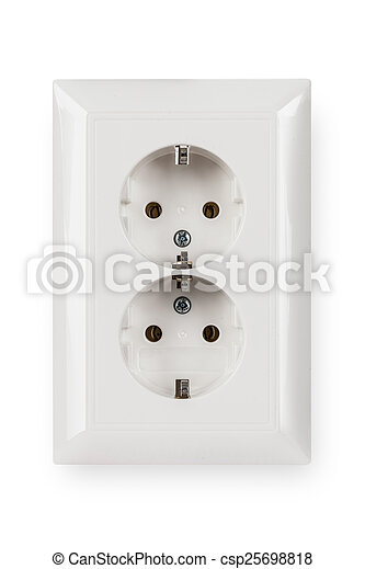 socket isolated on a white background - csp25698818