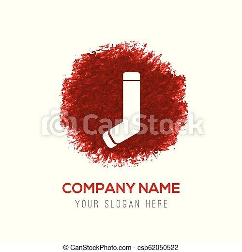 socks icon - Red Water Color Circle Splash - csp62050522