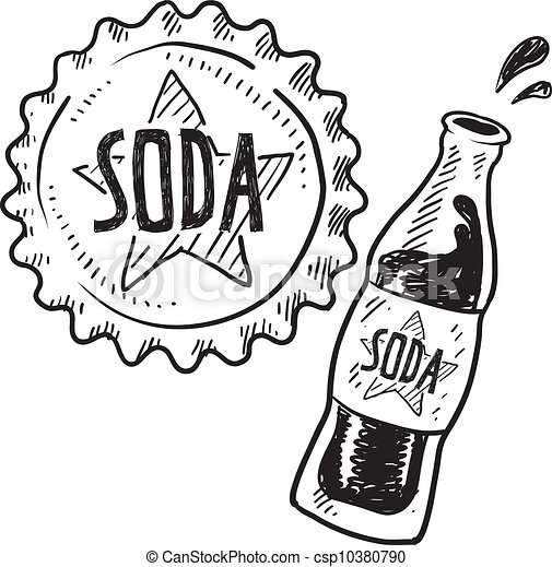 soda bottle sketch doodle style soda bottle with cap eps vectors rh canstockphoto com soda pop bottle clipart soda bottle clip art free