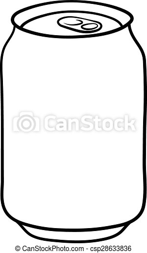 soda can doodle illustration in black and white vectors search rh canstockphoto com soda pop can clipart crushed soda can clipart