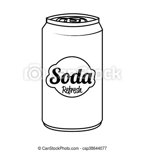 Soda can isolated flat icon, vector illustration. - csp38644077