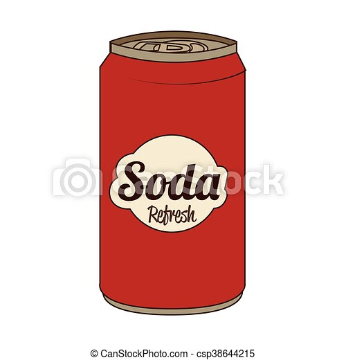 soda can isolated flat icon vector illustration soda can vector rh canstockphoto com soda can vector art soda can drawing vector
