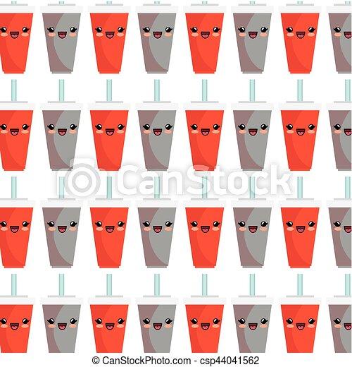 soda character kawaii style - csp44041562
