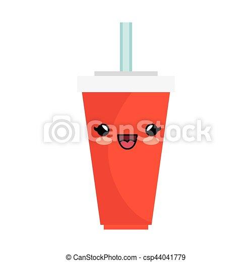 soda character kawaii style - csp44041779