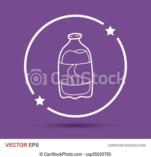 soda drink doodle - csp35033765