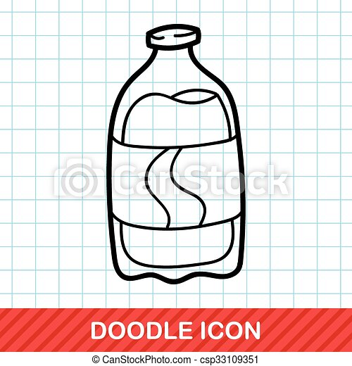soda drink doodle - csp33109351