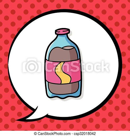 soda drink doodle - csp32018042