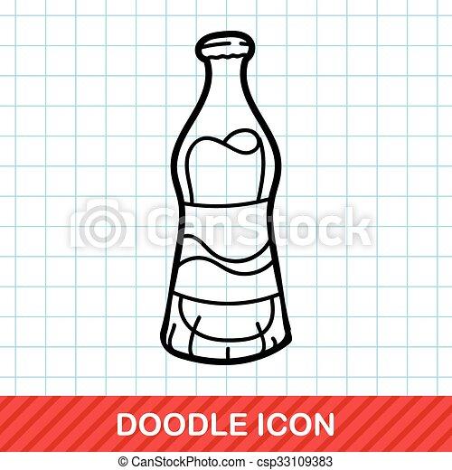 soda drink doodle - csp33109383