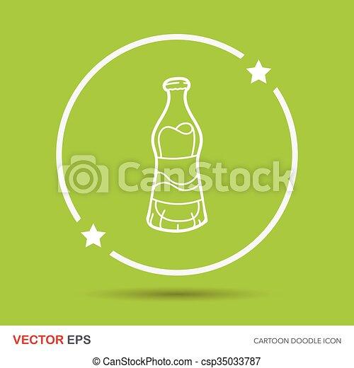 soda drink doodle - csp35033787