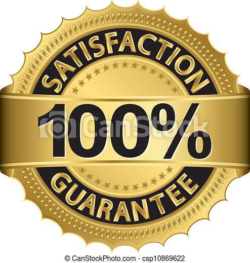 soddisfazione, 100 percento, garanzia - csp10869622