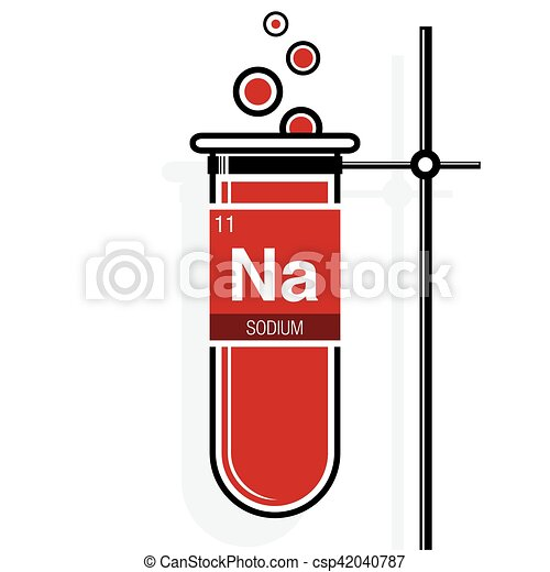 Sodium symbol on label in a red test tube with holder element periodic table of vector sodium symbol on label in a red test tube with holder element number 11 of urtaz Image collections