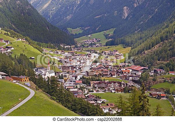 Soelden resort in Otztal, Tirol, Austria - csp22002888