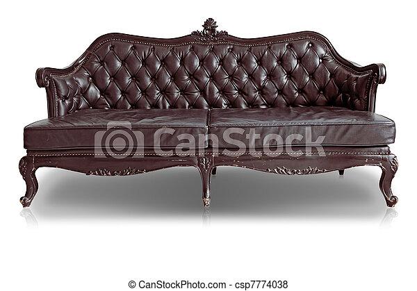 sofá marrón - csp7774038