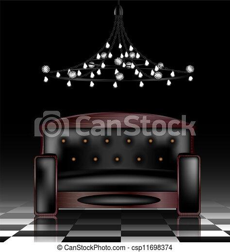 Sofa negra - csp11698374