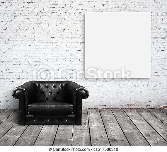 sofá, sala - csp17588318