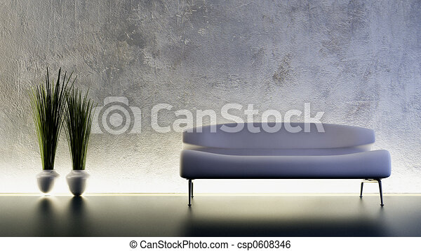 sofa 3D rendering - csp0608346